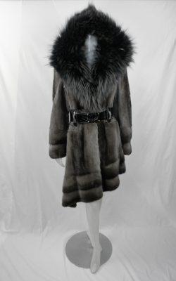 Grey Mink and Swakara w Fox Collar