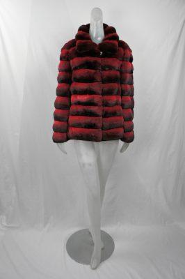 Red Horizontal Chinchilla Jacket