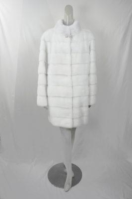 White Horzontal Mink Stroller